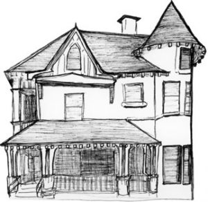 Ink rendering of Dean's Residence