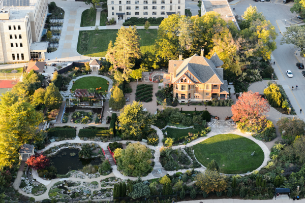 Aerial view of entire Garden