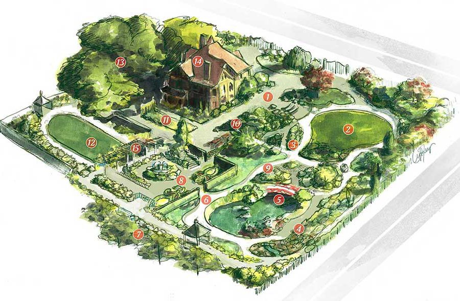 Illustrated Garden Map